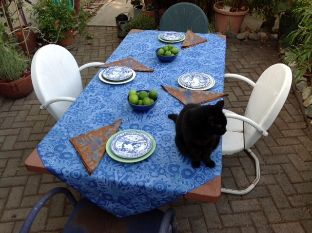 Tablecloth with Contrasting Napkins (Linen)