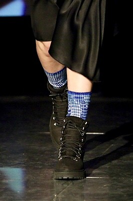 Socks Going Down the Fashion Runway in Oslo