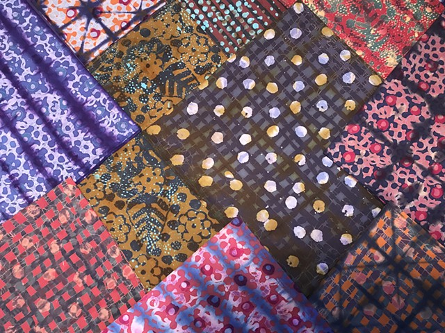Batik and Tie Dye Cotton Scarves