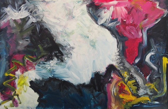 Painting, abstract, lyrical abstraction, expressionism, abstract expressionsism, Natalie Reynolds, artist, colour, color, acrylics, canvas, fine art, pop art, YVR, Vancouver BC Canada