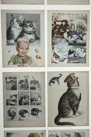 Arline Conradt & the Cat Scrapbook Mock-up Installation Detail