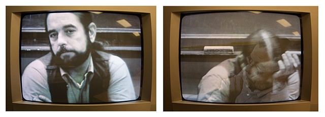 TV Diptych After Untitled (Newswomen), 2017