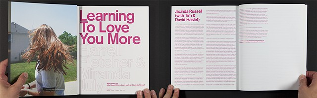 Learning to Love You More, Harrell Fletcher and Miranda July with essays by Julia Bryan-Wilson, Laura Lark and Jacinda Russell, New York: Prestal Publishing, 2007
