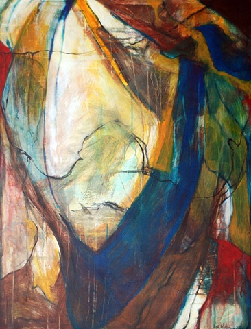 abstract painting, shape, vivid palette, value, line, colorist, graphite, acrylic