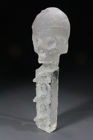 kevin vanek, Cast Glass, glass sculpture, sculpture, art, bones,