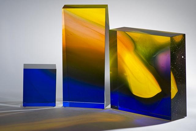 Blown glass sculpture by Cliff Maier