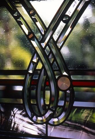 Beveled glass details.