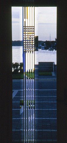 Beveled glass entry by Cliff Maier