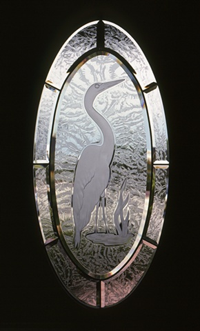 Beveled etched glass by Cliff Maier