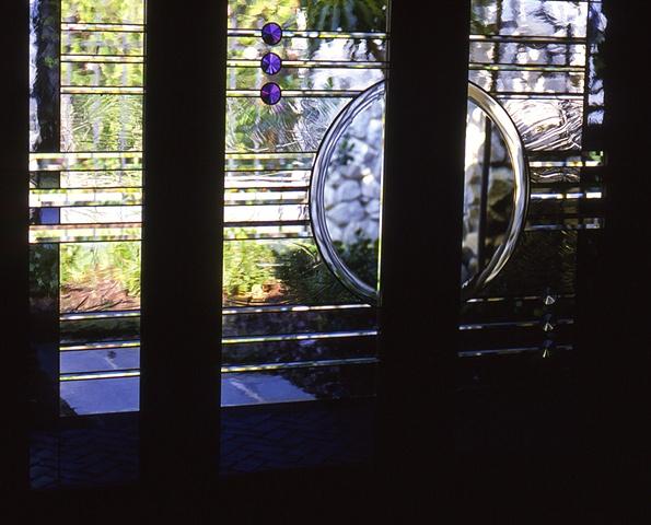 Art glass entryway doors.