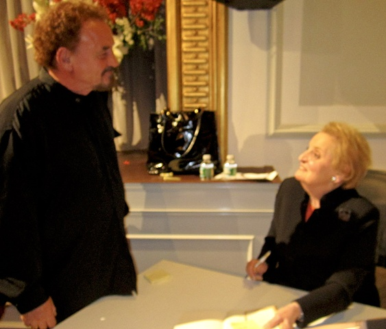 Franta meets Madeline Albright in NYC