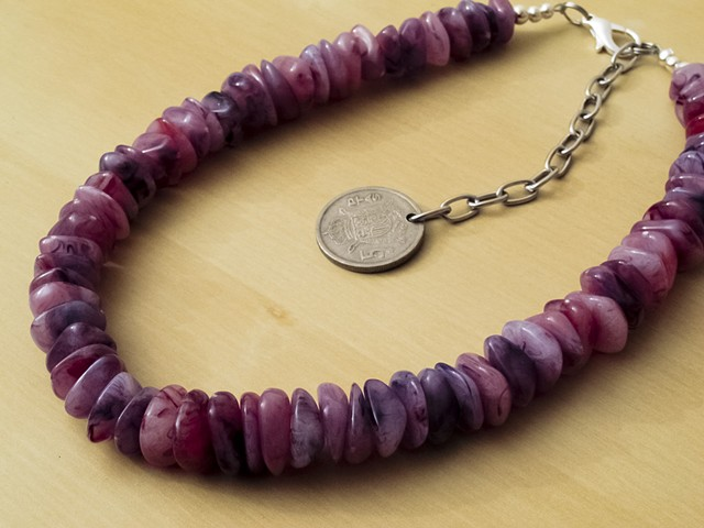 Purple Plum Acrylic Beads