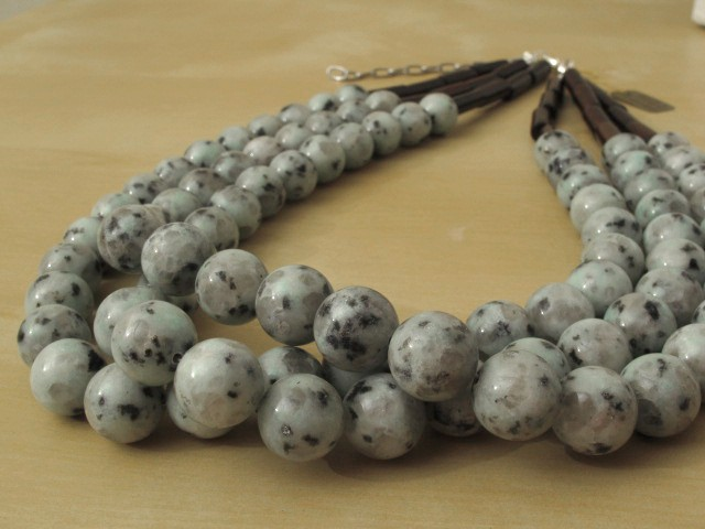 Sesame Jasper Necklace - 3 Strands