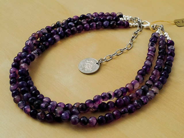 3 Strand Purple Agate