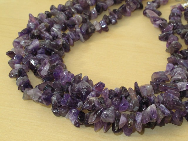 Amethyst Necklace - 4 Strands