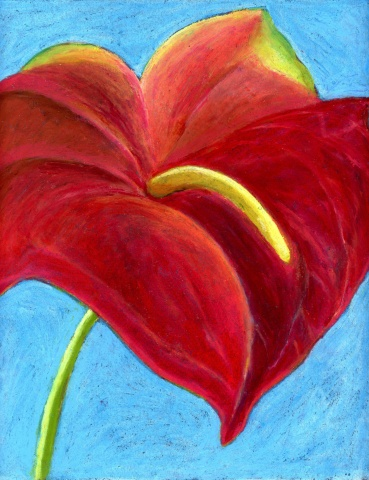 Acrylic print, small artwork, pastel painting, tropical flower painting, hawaiian flower painting, artwork on paper