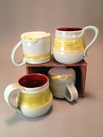 Thumb print mugs