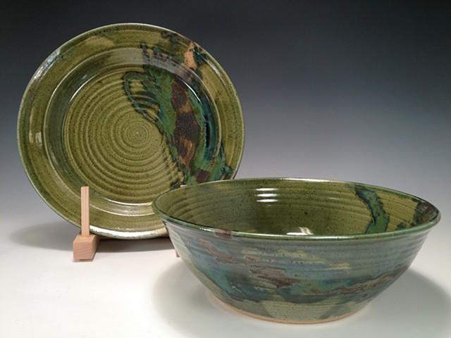 Serving Set, platter and bowl