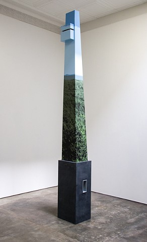 Mike Wsol's sculpture Tower installed as part of his Limited Vision exhibition at Solomon Projects in 2010