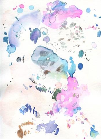 Dapple: Magenta, Blues and Light Pink