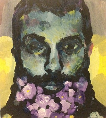 The Man With Flowers
