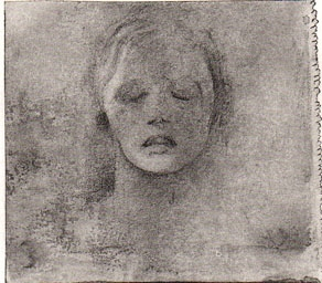 Portrait of a woman with closed eyes