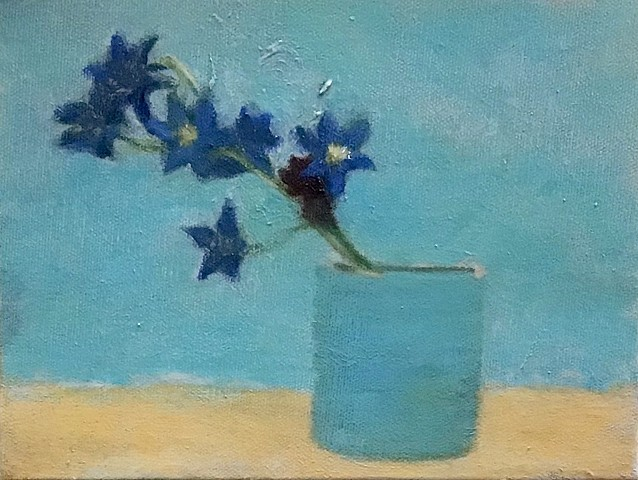 Blue Star Flowers in a Cup