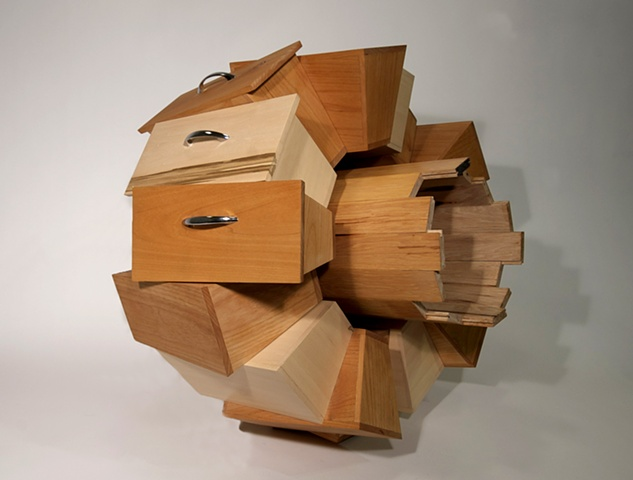 furniture-like sculpture by Patrick D. Wilson