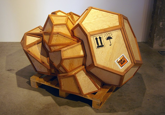 crate sculpture by Patrick D. Wilson
