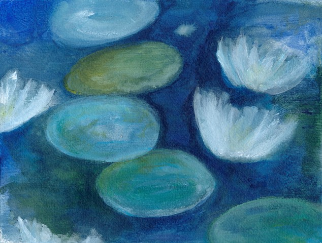 water lilies, lilies, impressionist, impressionism, water, flowers, tranquility, relaxing, ponds, painting, nature