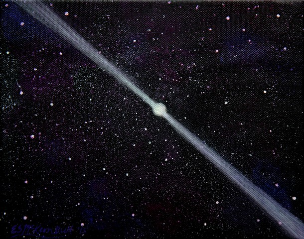 sciart, science art, space art, pulsar, astronomy, space, painting, art