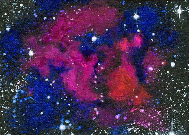dark matter, Abell, physics, astronomy, science, universe, galaxy, cosmic, art, painting, art science, science art, sci-art, sciart