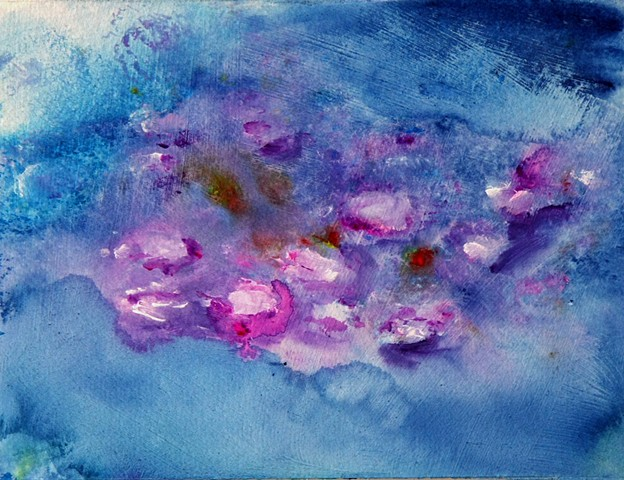 Impressionist, water lilies, lilies, Monet, floral, flowers, water