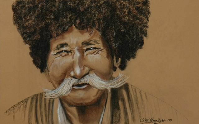 portrait conte charcoal paper