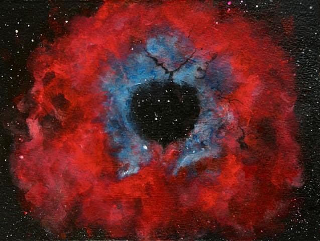 rosette nebula, nebula, nebulas, space, rosette, astronomy, universe, stars, painting, art, art science, science art, sci-art, sciart