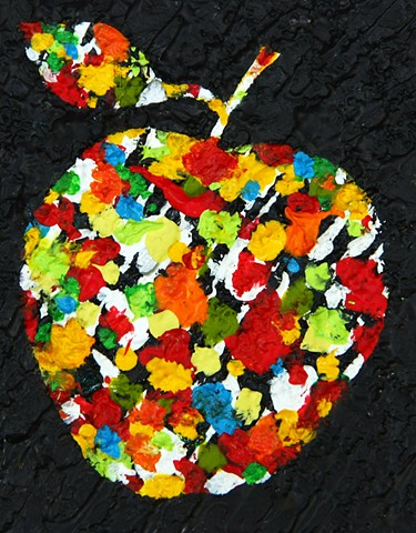 apple, austin, art, painting, contemporary, colorful