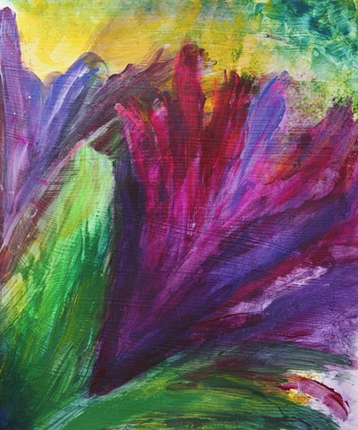 acrylic, paper, modern, contemporary, abstract, vivid, bright, painting