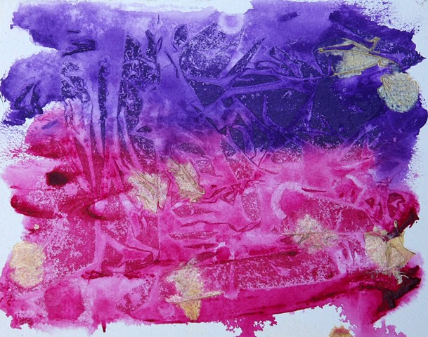 acrylic, abstract, pink, purple, painting, paper, modern