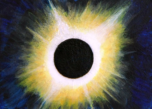 eclipse, solar eclipse, space, solar system, universe, galaxy, cosmic, stars, space art, science, art, painting, astronomy, art science, science art, sci-art, sciart