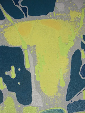 Chroma Topography:  Yellow Wave (Detail)