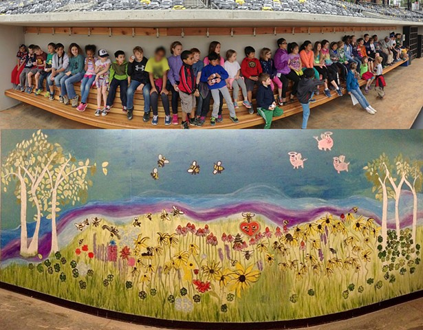 First mural at St. Paul Saints new ballpark