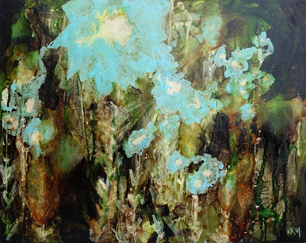 abstract flower painting, wyoming artist, kelsey mcdonnell, wyoming, art, modern art, resisitance art