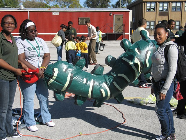 Solar-powered inflatables