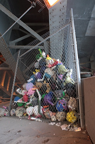 Pinatas under the Kennedy Expressway