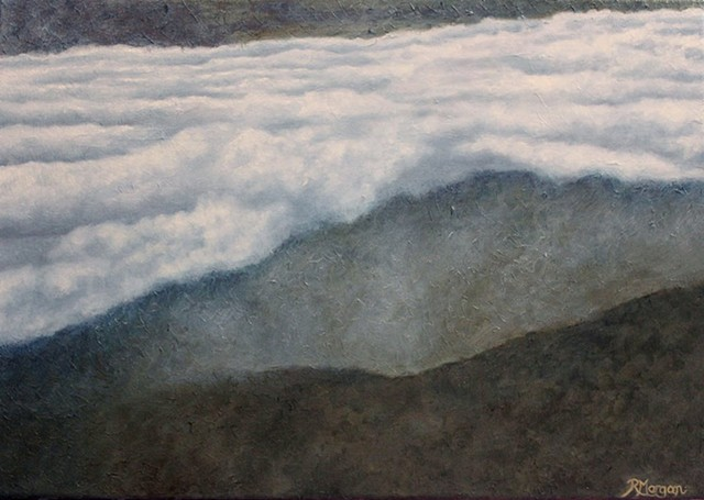 clouds hawaii mauna kea lookout fog atmosphere cloudscape Rebecca Morgan Finch