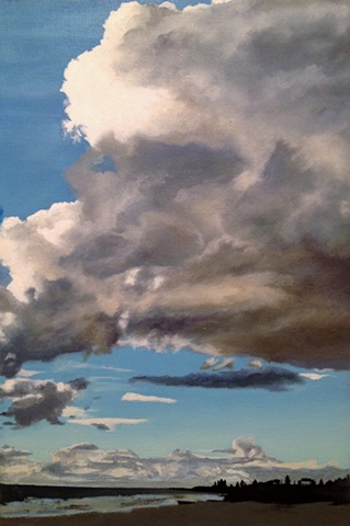 Rebecca Morgan Artist painter Australia Perth skies