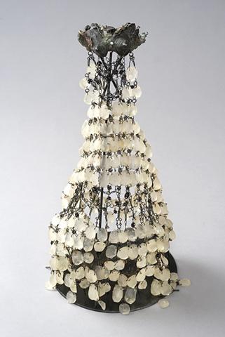 Evocative figureless Garment, Artemis, Breasts, Apron, Bronze Sculpture, Resin