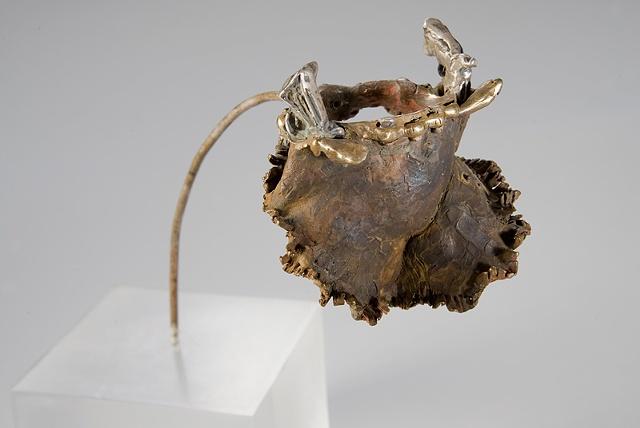 EvocativeFigurelessGarment by LindaMaeTratechaud, Bronze Scultpure, Guns, Apron