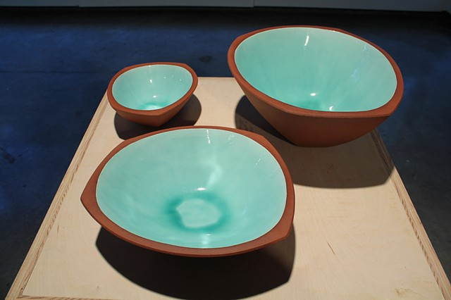 """Aqua Serving Bowls"""