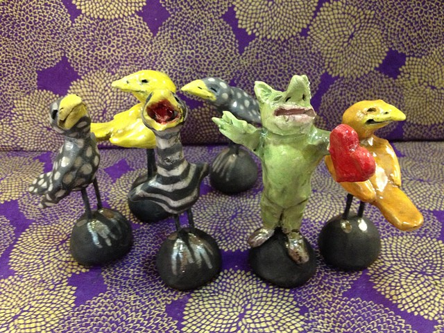 little raku birds and monsters